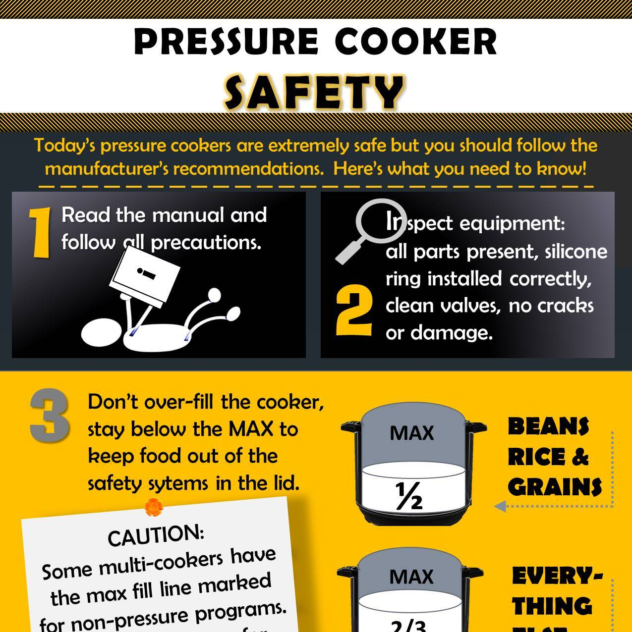 how to use pressure cooker safely